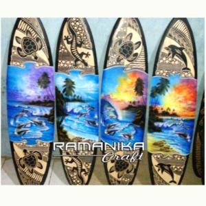 bali surfboard airbrush carving hanging wall handicraft sb-abc-h
