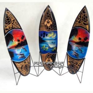 bali surfboard airbrush carving wooden handicraft sbabcisl
