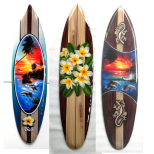 bali surfboard airbrush variation hanging wall handicraft sbabvh
