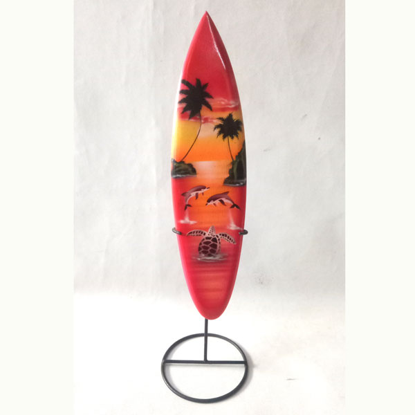 bali surfboard airbrush iron stand small handicraft sbabiss1