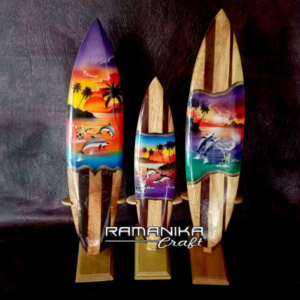 bali surfboard airbrush original wooden natural sbabonws