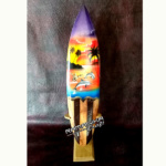 bali surfboard airbrush original wooden natural sbabonws