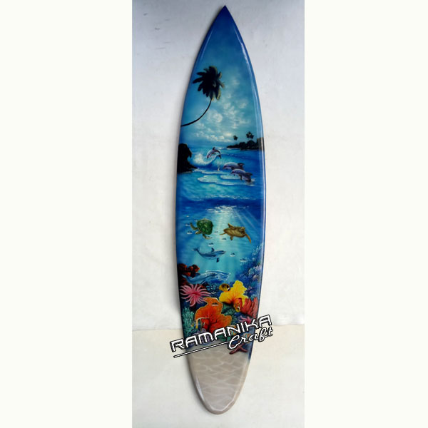bali surfboard aquarium airbrush hanging handicraft sbabqh1