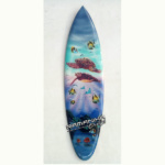 bali surfboard airbrush aquarium wall hanging sbabqh3