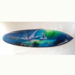 bali surfboard airbrush aquarium wall hanging sbabqhc
