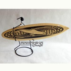 bali surfboard black sand iron man handicraft sbbsim2a