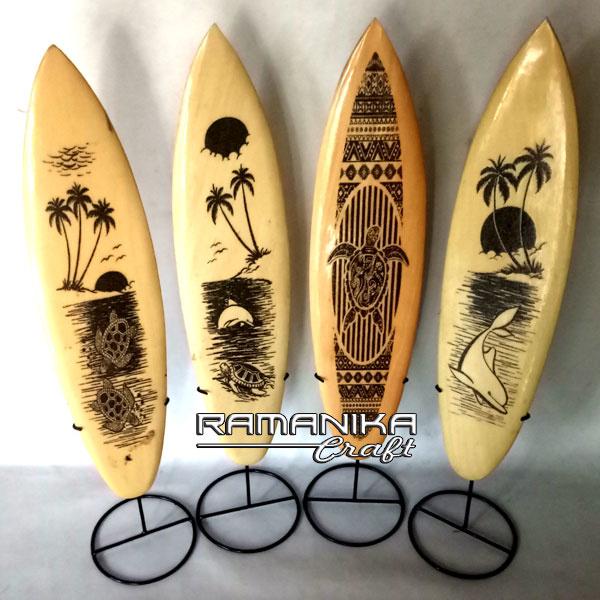 bali surfboard black sand iron stand small handicraft sbbsiss