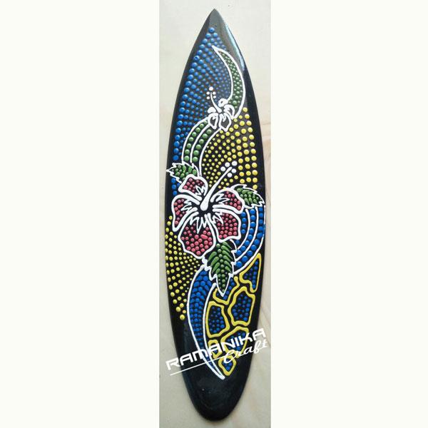 bali surfboard dot painting hanging handicraft sbdph1