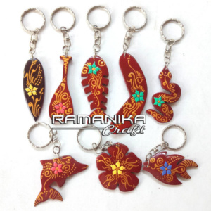 bali key rings painting krcp