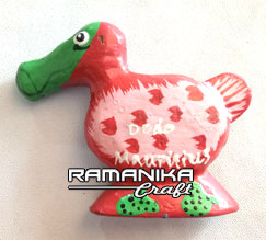 bali magnetic dodo painting handicraft mgadp6