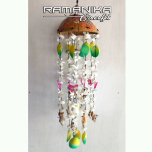 bali chime coco sea shell dot painting handicraft cmcssdp4