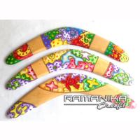 Bali Boomerang Crazy Color Painting Wall Hanging