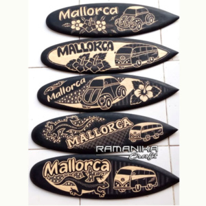 bali surfboard black carving signboard hanging wall handicarft sbbcsb