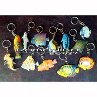 Bali Key Ring Airbrush Fish Wooden Accessories