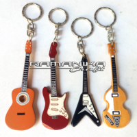 Bali Key Rings Guitar Wooden Handicraft