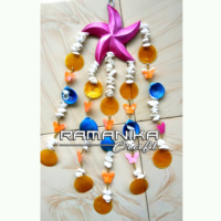 Bali Chime Wood Color Sea Shell Handicraft